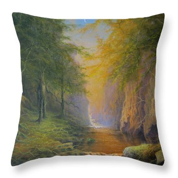 Lord Of The Rings Fangorn Treebeard Merry And Pippin Throw Pillow by Joe  Gilronan