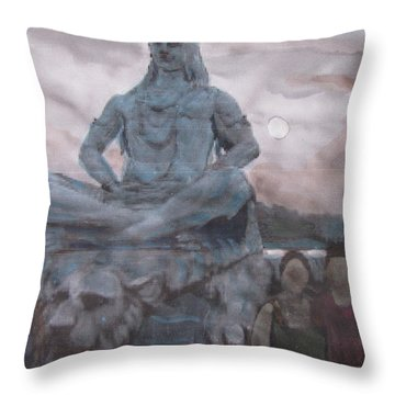 Lord Shiva Throw Pillow