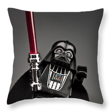 Lord Vader Throw Pillow by Samuel Whitton