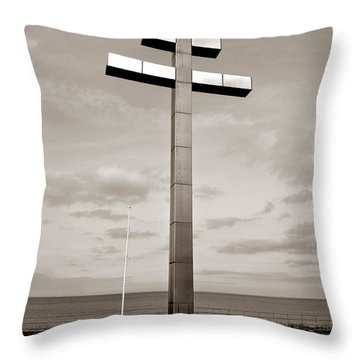 Lorraine Cross In Normandy Throw Pillow by Olivier Le Queinec