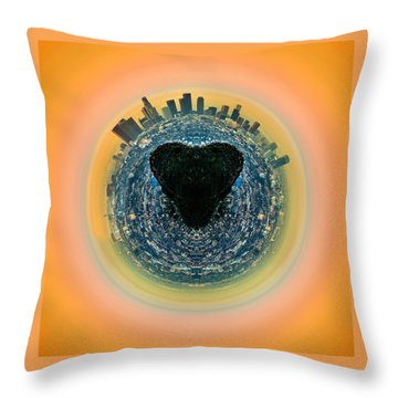 Love La Throw Pillow by Az Jackson