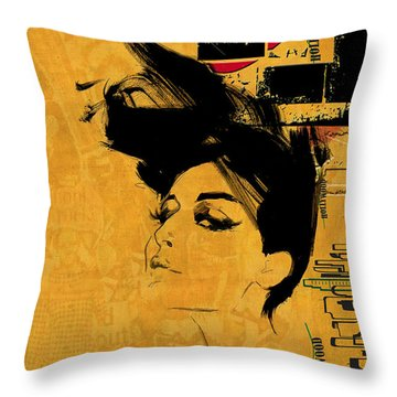 Los Angeles Collage 2 Throw Pillow by Corporate Art Task Force