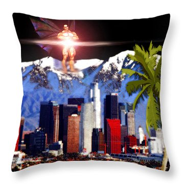 Los Angeles  Throw Pillow by Daniel Janda
