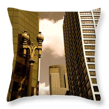 Los Angeles Downtown Throw Pillow