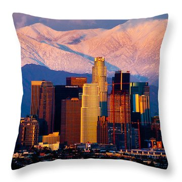 Los Angeles In Winter Throw Pillow