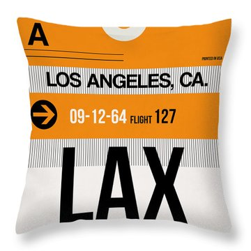 Los Angeles Luggage Poster 2 Throw Pillow