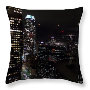 Los Angeles Nightscape Throw Pillow