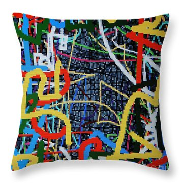 Los Angeles Throw Pillow by Taikan Nishimoto