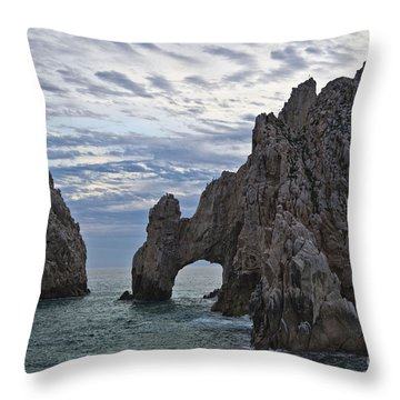 Los Arcos In Cabo San Lucas Throw Pillow by Loriannah Hespe