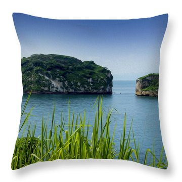 Los Arcos Puerto Vallarta Mexico Throw Pillow by Aged Pixel