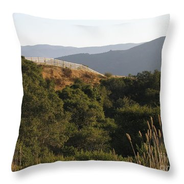 Los Laureles Ridgeline Throw Pillow