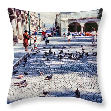 Los Palomitos Throw Pillow