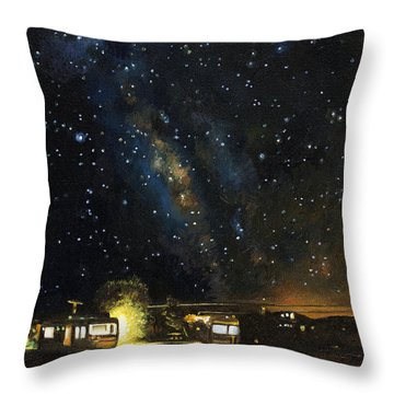 Los Rancheros Rv Park Throw Pillow