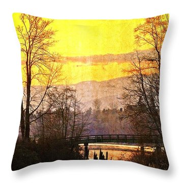 Lost Along The River Throw Pillow by Eti Reid