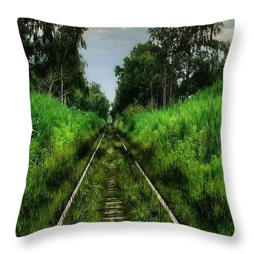 Throw Pillow featuring the digital art Lost And Found by Marvin Blaine