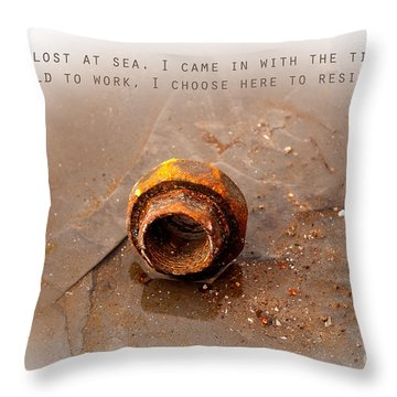 Throw Pillow featuring the photograph Lost At Sea by Lena Wilhite