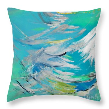 Lost At Sea Throw Pillow by PainterArtist FIN