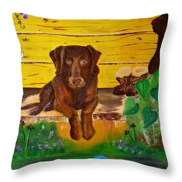 Lost Ball Throw Pillow