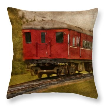 Lost Carriage 01 Throw Pillow by Kevin Chippindall