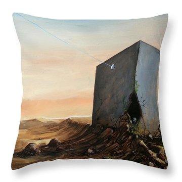 Lost Connection Throw Pillow by Mariusz Zawadzki