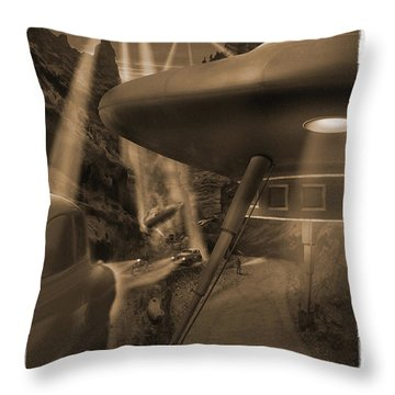 Lost Film 35 Mm Throw Pillow by Mike McGlothlen