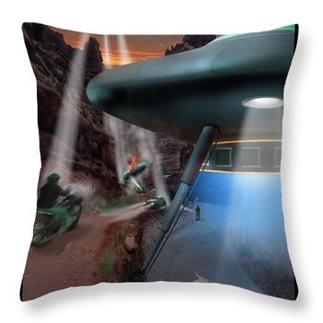 Lost Film Number 4 Throw Pillow by Mike McGlothlen