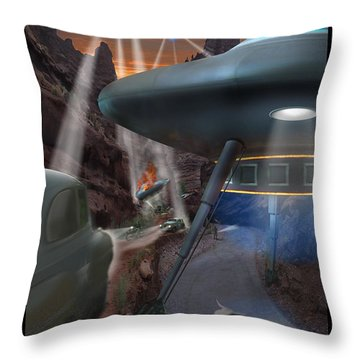 Lost Film Number 5 Throw Pillow by Mike McGlothlen
