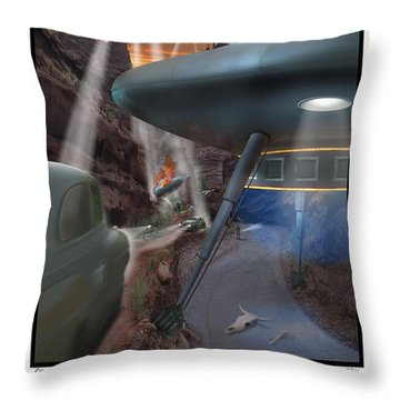 Lost Film Number 5 Se Throw Pillow by Mike McGlothlen