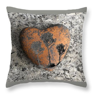 Throw Pillow featuring the photograph Lost Heart by Juergen Weiss