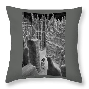 Lost In A Black And White Dream Throw Pillow