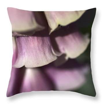Throw Pillow featuring the photograph Lost In A Foxglove by Joy Watson