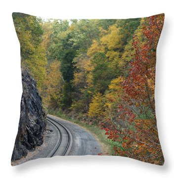 Lost In Colors Throw Pillow