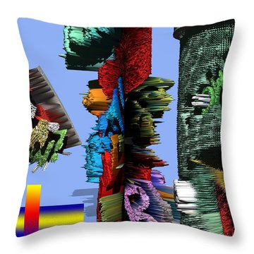 Lost In Comic Book Time Throw Pillow by Robert Margetts