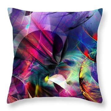 Throw Pillow featuring the digital art Lost In Hyperspace by David Lane
