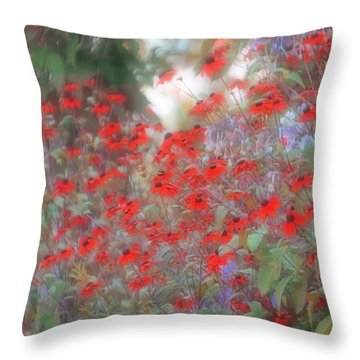 Lost In Paradise Throw Pillow by The Art Of Marilyn Ridoutt-Greene