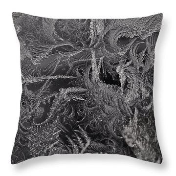 Lost In The Frost Throw Pillow by Susan Capuano