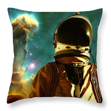 Lost In The Star Maker Throw Pillow by Matthew Lacey