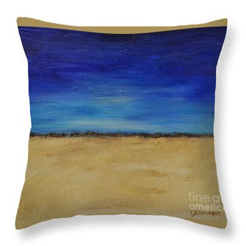 Throw Pillow featuring the painting Lost In Thought by Lori Jacobus-Crawford