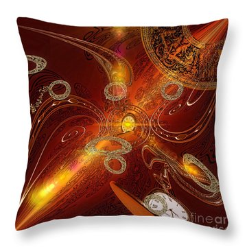 Lost In Time Throw Pillow by Mo T