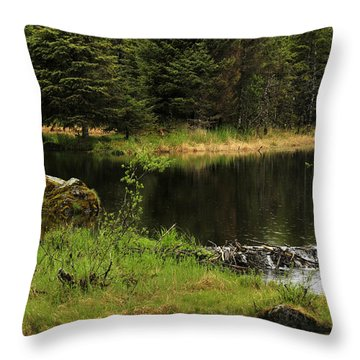 Throw Pillow featuring the photograph Lost In Wild Paradise by Davina Washington