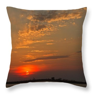Lost In Wispy Cloudy Throw Pillow
