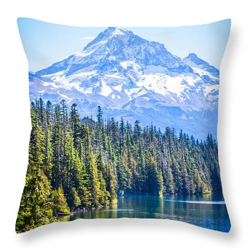 Lost Lake Morning Throw Pillow by Patricia Babbitt
