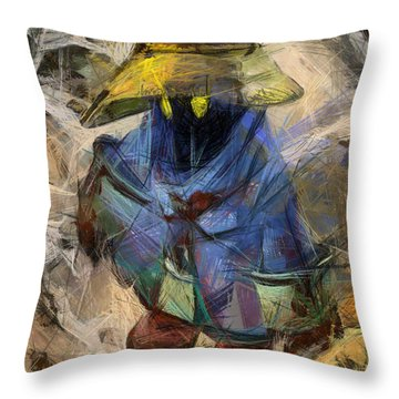 Lost Mage Throw Pillow by Joe Misrasi