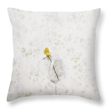 Lost Petals Throw Pillow by Joana Kruse