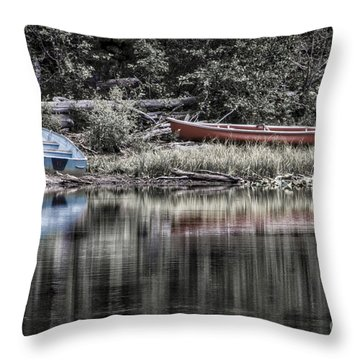 Throw Pillow featuring the photograph Lost Shores by Mitch Shindelbower