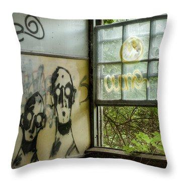 Lost Souls - Abandoned Places Throw Pillow by Gary Heller