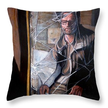 Throw Pillow featuring the painting Lost by Tom Roderick