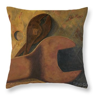 Lost Tools Throw Pillow