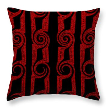 Throw Pillow featuring the painting Lost Tribes by Roz Abellera Art
