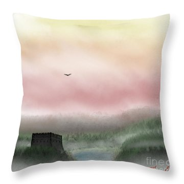 Lost Valley Throw Pillow by Thomas OGrady